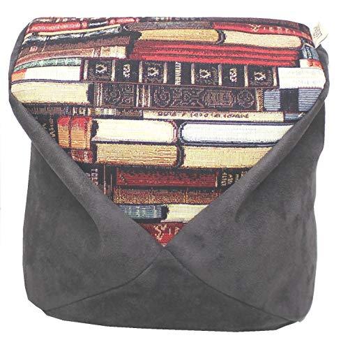 LESEfit Soft D antirutsch Lesekissen Tablet Kissen Buchstütze für Bett, Sofa, Buch, e-Reader, kompatibel mit iPad (multifunktionale Quader-Form) Wildleder-Imitat schwarz Bücher