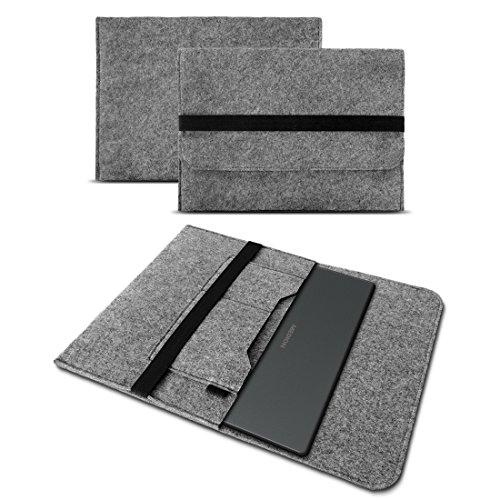 UC-Express Sleeve Hülle für Medion Akoya E1239T Tasche Filz Notebook Cover Laptop Case Grau, Farbe:Grau