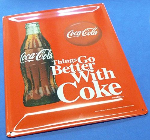 RETRO MAXI Blechschild Coca Cola FLASCHE Größe 30x40cm GEWÖLBT