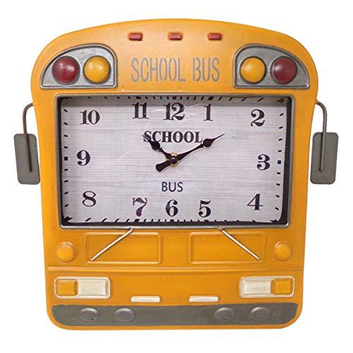 School Bus Analog Clock
