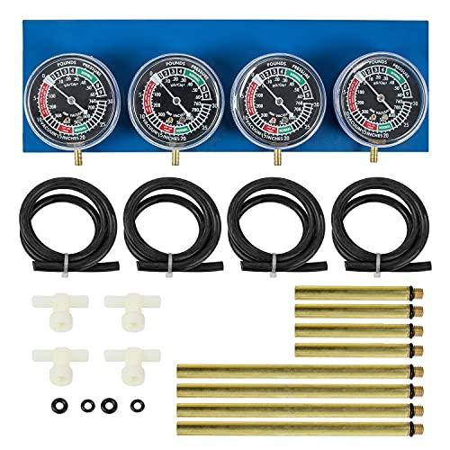 Universal Motorcycle 4 Carburetor Synchronizer Carb Vacuum Gauge Sync Tool Compatible WithSuzuki GS KZ XS CB 550 650 750 850 900 BMW Kawasaki Zzr600 Yamaha Radian 600