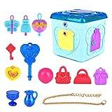 Oyrcvweuy Jolie boîte à bijoux de princesse avec lumière