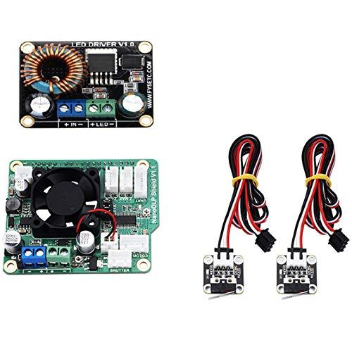 Varadyle NanoDLP Shield V1.1 Expansion Board +Boost LED Driver Board + 2Pcs CR-10 Limit Switch for SLA UV Cured 3D Printer Parts