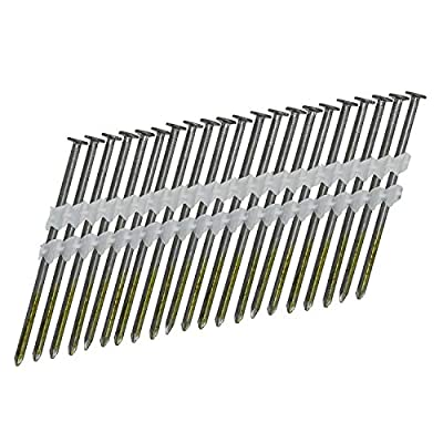 """Freeman FR.120-3B-4K 21 Degree .120"""" x 3"""" Plastic Collated Brite Finish Smooth Shank Full Round Head Framing Nails (4000 count) by Prime Global Products"""