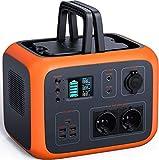 TACKLIFE Tragbarer Akku Generator 500Wh, 300W reines Sinuswellen Power Station, AC/DC/USB-C/Autoladegerät-Ausgänge für CPAP Camping Emergency Outdoor(EU Vorrat,in 3 bis 5 Tagen angekommen)