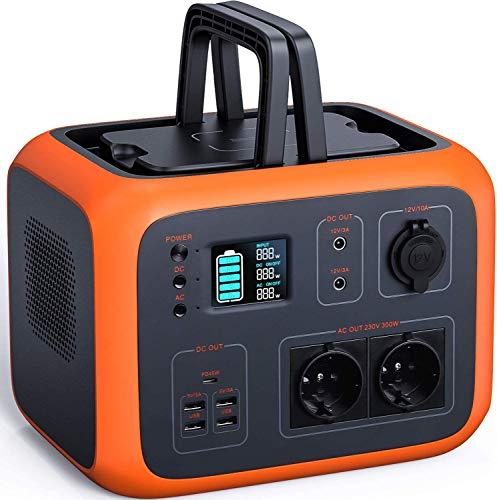 Powerstation, TACKLIFE 500Wh Akku und Solar Generator mit 2 x 220V AC, 2 x 12V DC, 4 x USB, PD und kabelloses Laden, Display der Lade- und Entladeleistung und LED, Energiespeicher für Camping, Outdoor