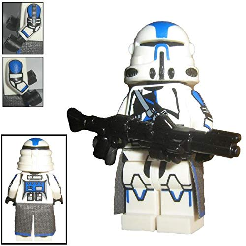 Custom Brick Design 501st Legion Airborne Clone Trooper Figur V.1 - modifizierte Minifigur des bekannten Klemmbausteinherstellers und somit voll kompatibel zu Lego Star Wars Sets