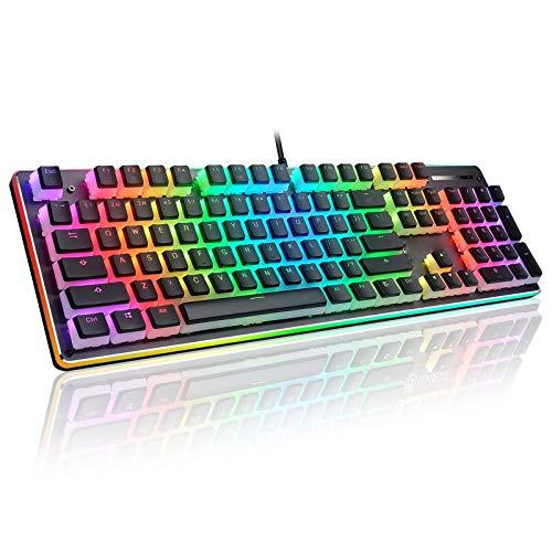 DAIJIA Due Colori Traslucido OEM Altezza 104 Tasti Doppia Pelle Latte Gelatina Doppio budino Tastiera Meccanica Universale Keycap (Nero)