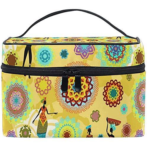 Draagbare tas voor reistas met organizer voor etnische meisjes en etnische Afrika