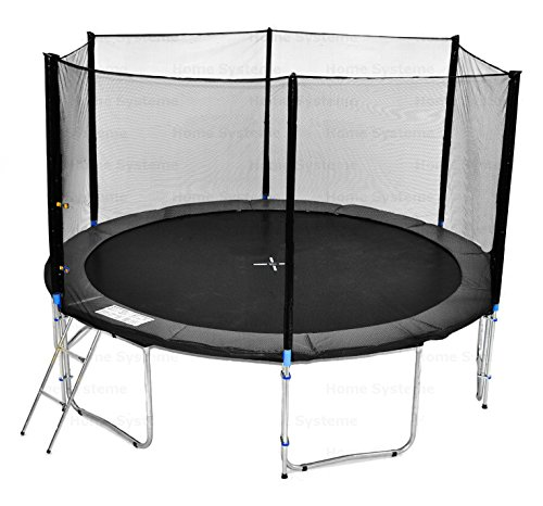 Giardino trampolino (SA) 430 cm con 14ft rete di sicurezza - TÜV / GS / CE - 180 kg forza peso Rete di sicurezza, Scala & Ancora