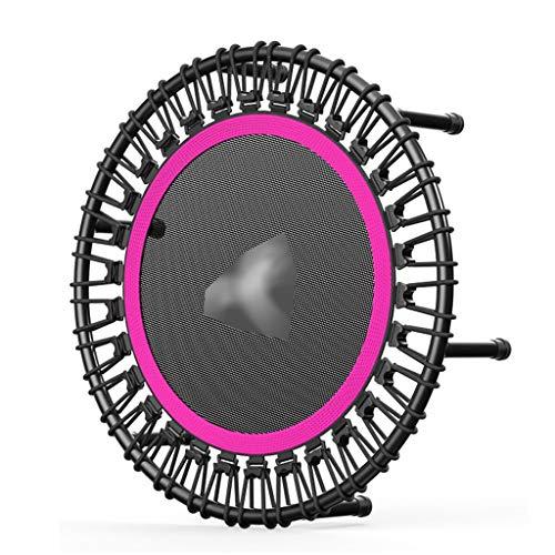 XUEYAN Trampolín elástico Cuerda Cubierta for Adultos aparatos de Ejercicios de Salto de Cama de 40 Pulgadas silencioso Trampolín Muelle (Color : Red, Size : 40INCH)