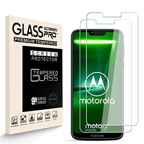HJX Protector de Pantalla para Motorola Moto G7 Power [2-Pack], Vidrio Templado de 9H Dureza, 2.5D Alta Definicion Sin Burbujas, Alta Sensibilidad, Motorola Moto G7 Power Protector de Pantalla