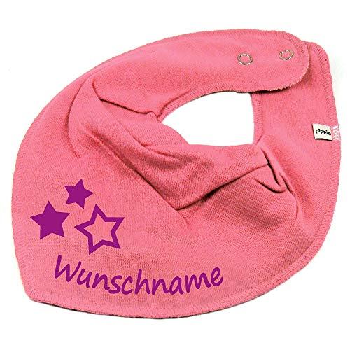 Elefantasie Elefantasie HALSTUCH drei Sterne mit Namen oder Text personalisiert bubblepink für Baby oder Kind