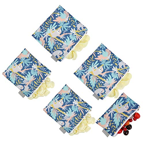 miuse Set of 5 Reusable Sandwich Snack Bags Eco-Friendly Dishwasher Safe...