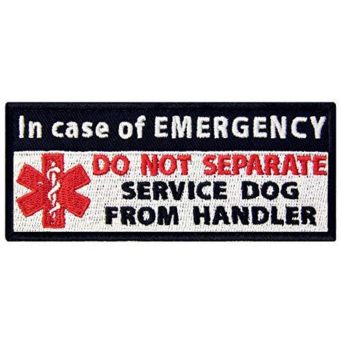 Service Dog in Case of Emergency Medic Paramedic Star of Life Vests/Harnesses Patch Embroidered Fastener Hook & Loop Emblem