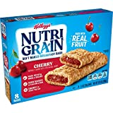 Kellogg's Nutri-Grain, Soft Baked Breakfast Bars, Cherry, Made with Whole Grain, 10.4 oz (Pack of 6)