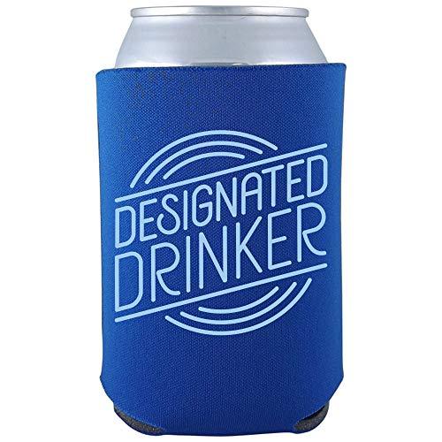 Designated Drinker - Funny Beer Party Joke Can Cooler Sleeve - OS - Royal