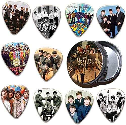 Beatles 10 X Gitarren Picks Plektrums In Tin 100 Range