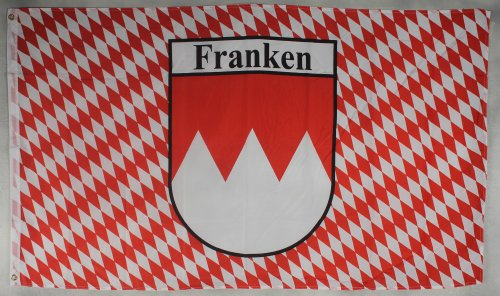 Flagge Fahne ca. 90x150 cm : Franken mit Raute