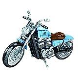 BGOOD Juego de construcción de moto para Harley Davidson Iron 883, 729 bloques de construcción de sujeción, compatible con Lego Technic