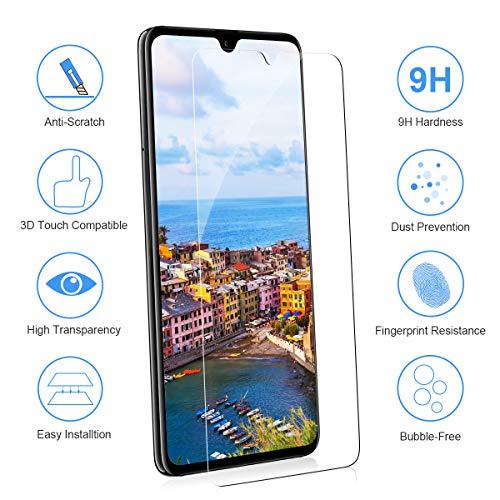 CRXOOX [3 Stück] Panzerglas Schutzfolie für Huawei Mate 20, [Anti-Kratzer/Anti-Öl] [Einfache Installation] [Blasenfrei] [3D Touch Kompatibel/9H Härte] - für Huawei Mate 20 - Transparent - 2
