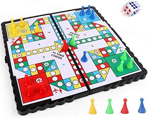 N\A ZT Juego de ajedrez Volador Plegable Juguetes Magnético Tablero Diversión Juego de ajedrez Juego de Tablero de Viaje Juegue Interactivo Padre-Niño Juguete para niños Adultos (Color : A)