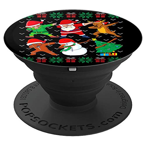 Dabbing Christmas Ugly Xmas Sweater Santa Dab Squad Kids Boy PopSockets Grip and Stand for Phones and Tablets
