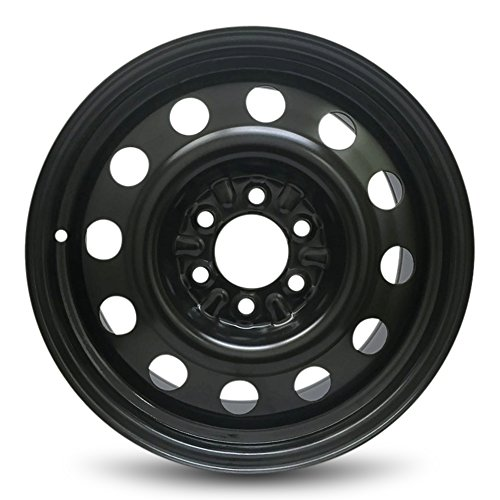 Road Ready Car Wheel For 2003-2017 Lincoln Navigator 2011-2017 Ford Expedition 2004-2020 Ford F150 2006-2008 Lincoln LT 18 Inch 6 Lug Black Steel Rim Fits R18 Tire - Exact OEM Replacement - Full-Size
