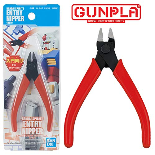 Bandai Hobby Spirits Entry Side Cutter Sprue Nipper for Plastic Models - Red