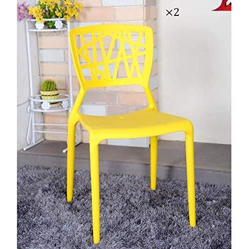 LJ Chaise empilable à manger Chaise latérale Dossier en plastique Siège adulte Bureau/Maison/Jardin/Fête/Réception/Salon , Pack-2,3