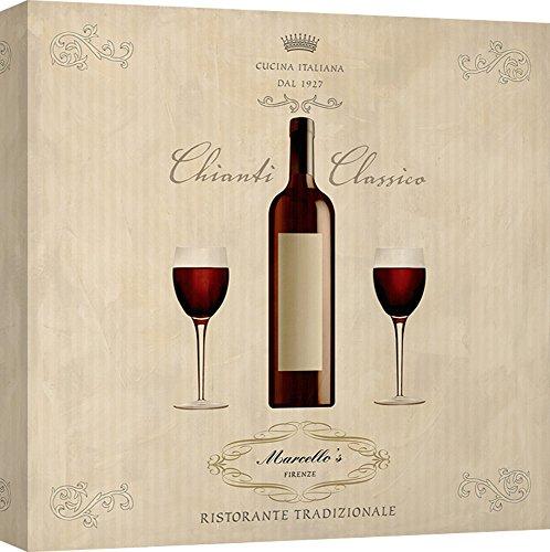 Art Print Cafe - kunstdruk op canvas - keuken & wijn - Sandro Ferrari, Chianti Classico 90X90