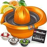 Mueller Citrus Lemon Orange Juicer, Hand Squeezer Rotation Press, Manual Juicer with Easy Pour...