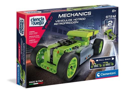 Clementoni Ciencia y Juego Laboratorio de Mecánica, Vehículos Hotrod Retrofricción, Color (55345)