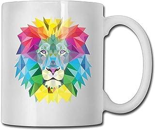 Élégant abstrait Lion drôle tasse de café Cool café tasse de thé 11 onces cadeau parfait pour la famille et l'ami