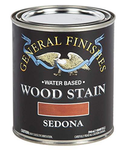 General Finishes Water Based Wood Stain, 1 Quart, Sedona