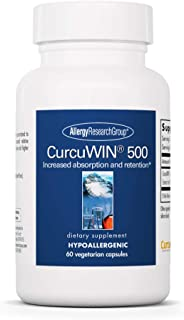 Allergy Research Group - CurcuWin 500 - Bioavailable Curcumin/Turmeric Extract - 60 Vegetarian Capsules