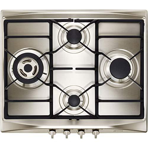 Smeg Piano cottura tipo gas Smeg Selezione SR264XGH2 con 4 zone di cottura con larghezza di 60 cm di colore Inox