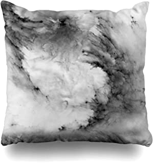 Ahawoso Throw Pillow Cover Square 16x16 Inches Marble Decorative Pillow Case Home Decor Pillowcase