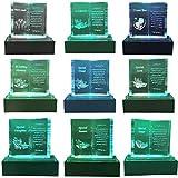 Online Steet - Placa Conmemorativa de Cristal con Luces Coloridas y Soporte LED, Ideal para el día de la Madre, cumpleaños, Navidad y Aniversario de Boda, Cristal, Transparente, Special Aunt