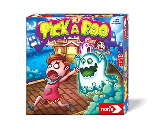 noris 606061903 Pick-a-Boo – Das aufregende Reaktionsspiel für Kinder ab 5 Jahren, erschreckend spaßig für 2 – 4 Spieler, Spiele für Kinder