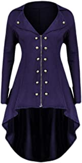 Womens Gothic Steampunk Halloween Costume Coat Tailcoat Jacket