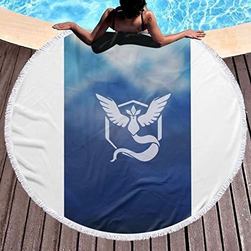 Anime Po-ke-mon Go - Toalla redonda de microfibra de secado rápido, ligera, ultra suave, superabsorbente, toalla de camping compacta para deportes, gimnasio, playa