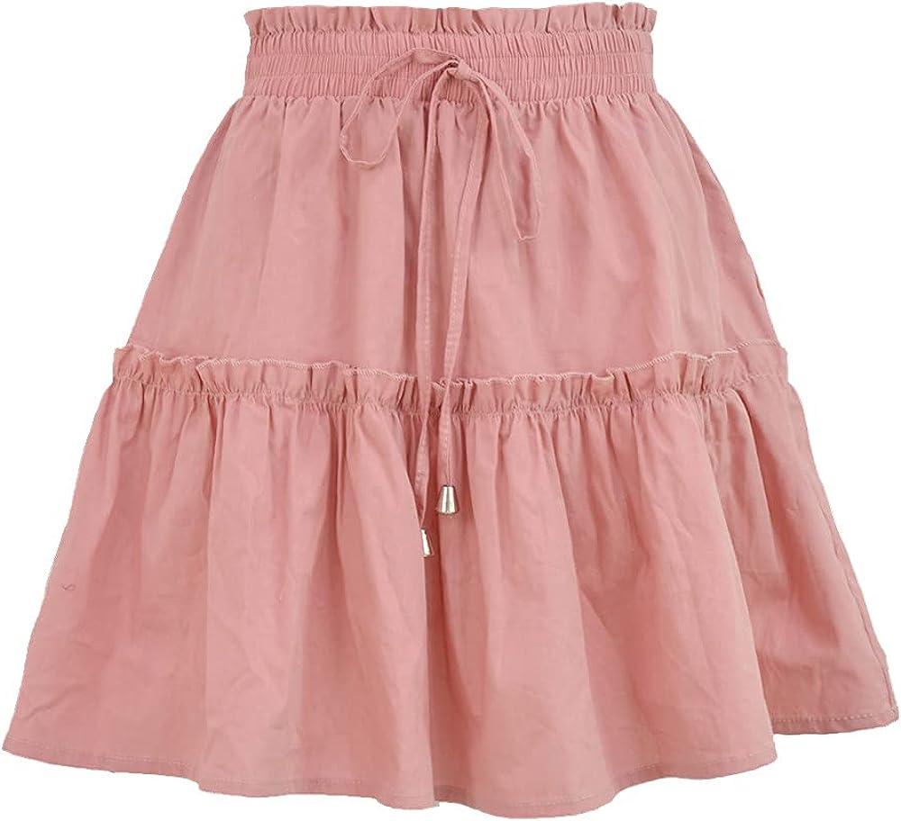 NP Summer Women's Casual Comfortable Skirt Loose Short Skirt