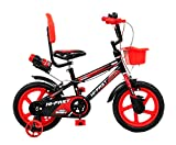 HI-FAST Yeah Baby Semi-Assembled Sports Kids Cycles for 3 to 5 Years Boys and Girl (14-Inch)