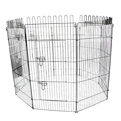 WEIMALL ペットサークル 折りたたみ 8面サークル 高さ120cm ペットケージ ペットフェンス ケージ ゲージ サークル トレーニングサークル 犬用ケージ 中型犬用 大型犬用 屋内用 屋外用 室内用 犬小屋 犬 ペット ペット用品