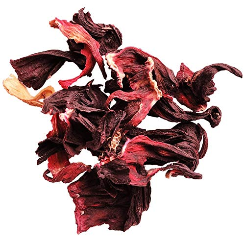 Früchtetee Tee Hibiskustee aus Karkadehblüten ✔ Früchte Tee Tea Chay lose ✔ Teemischung ✔ ohne Zusatzstoffe & Konservierungsstoffe, 100g
