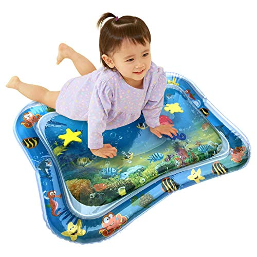 CampHiking Tapis de Bain Tummy Time pour Les bébés bébés Tapis de Jeu pour bébé - Jouets pour bébé Tapis rembourré Gonflable Tapis de Protection pour Coussins d'eau Prostrate, 66x50cm
