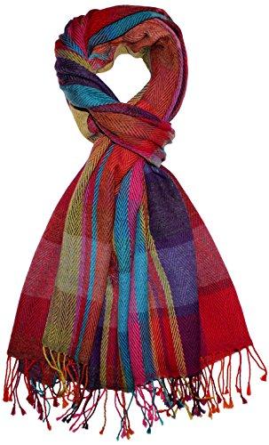 Lorenzo Cana - Herren Schal Schaltuch aus weicher Wolle mit Baumwolle Frischgrat bunt mehrfarbig 70 x 190 cm Wollschal Wolltuch Tuch 7839711