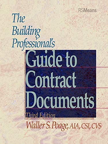 Download The Building Professional's Guide to Contract Documents 3e (RSMeans) 0876295774