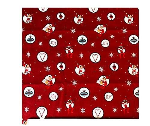 Elf Red Fabric Fat Quarter (1/4 Yard) Cotton Christmas Elves